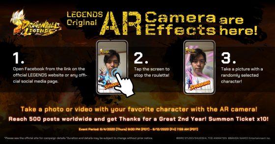 Dragon-Ball-Legends-AR-SS-1-560x293 Dragon Ball Legend celebra su segundo aniversario con nuevos personajes y la aplicación de cámara de Facebook de realidad aumentada