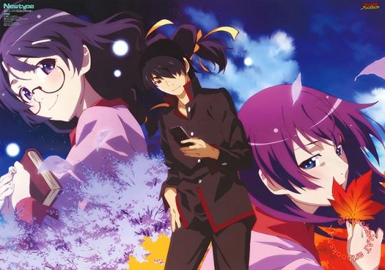 """bakemonogatari-wallpaper-2-560x394 momento anime: Koyomi Araragi realizó un ritual para eliminar las """"peculiaridades"""" de Nadeko Sengoku"""