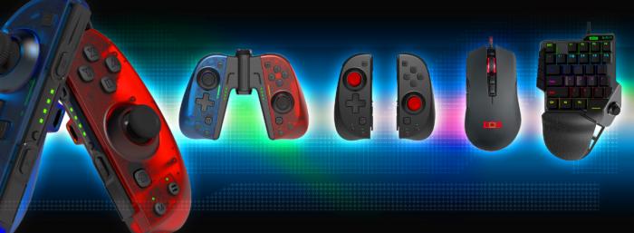 NEXiLUX-Lineup-700x257 actualice su equipo de juego con el nuevo reemplazo Joy-Con de NEXiLUX, teclado y mouse para juegos.